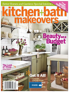 check our our new kitchen remodel in better homes and gardens magazine